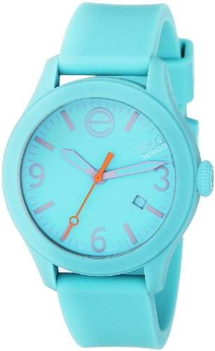 ESQ by Movado ESQ One Unisex-Armbanduhr 43mm Armband Silikon Aquamarinen + Gehaeuse Schweizer Quarz 7301439