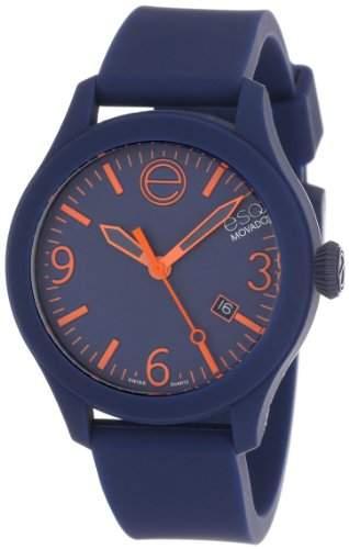 ESQ by Movado ESQ One Unisex-Armbanduhr 43mm Armband Silikon Grau + Gehaeuse Schweizer Quarz Datum 7301441