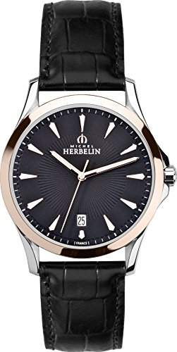 Michel Herbelin Herren-Armbanduhr Lyre Analog Quarz Leder 12213TR14