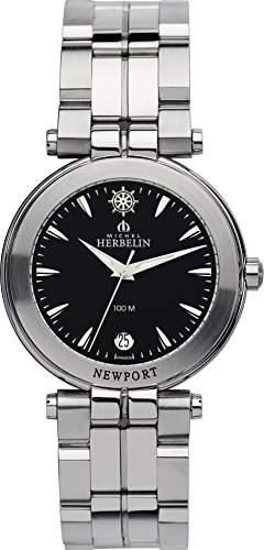 Michel Herbelin Herren-Armbanduhr Newport Yacht Club Analog Quarz Edelstahl 12386B24