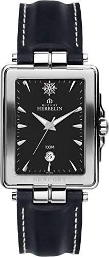 Michel Herbelin 1246614Armbanduhr Herren, Leder, Farbe: Schwarz