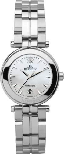 Michel Herbelin Damen-Armbanduhr Analog edelstahl silber 12856B19