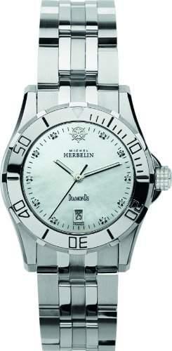 Michel Herbelin Damen-Armbanduhr Analog Quarz Edelstahl 1429189B