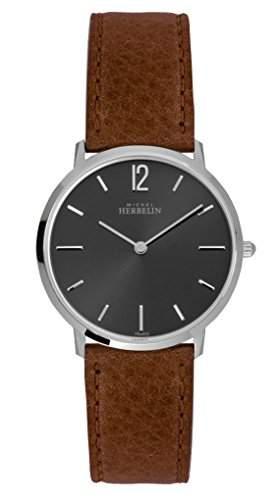 Michel Herbelin 1701514GO Armbanduhr Herren, Leder, Farbe: Braun