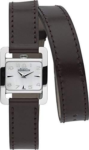 Michel Herbelin Damen-Armbanduhr 1703719CHO Damen-Armband, Leder, Farbe: braun