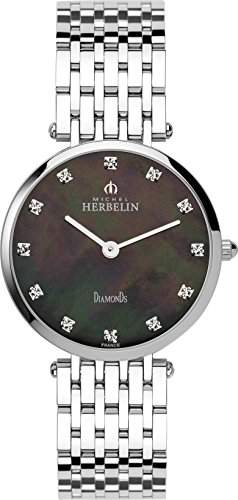 Michel Herbelin Damen-B99 17345Damen-Armbanduhr-Quarz-Analog Edelstahl Silber