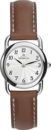 Michel Herbelin Damen - 1746728GO Damen-Armbanduhr Lolla Quarz analog Leder Braun