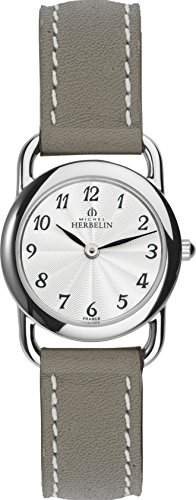 Michel Herbelin Damen-Armbanduhr 1746728TA Damen-Armband, Leder, Farbe: beige