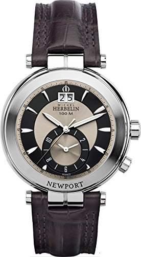Michel Herbelin 1846648MA Armbanduhr Herren, Leder, Farbe: Braun