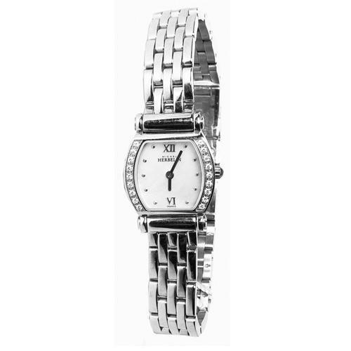 Michel Herbelin Damen 20mm Silber delstahl Armband Gehaeuse Uhr 17046 18YB19