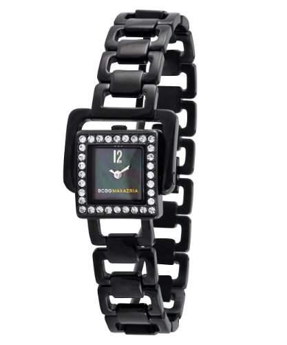 BCBGMAXAZRIA Damen-Armbanduhr Analog Edelstahl beschichtet schwarz BG8239