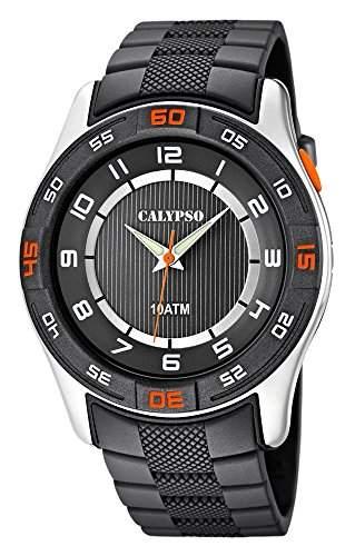 Calypso Watches Herrenarmbanduhr Analoguhr Grau mit Leuchtzeigern K60621
