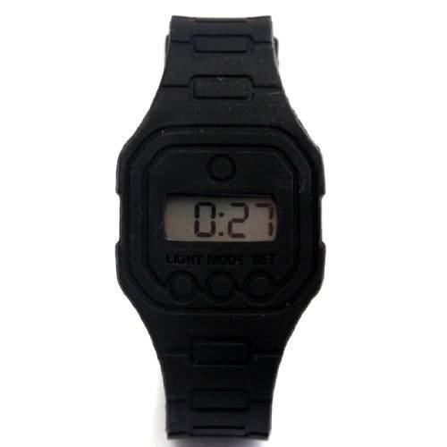 Digital Sport Armbanduhr Herren Quarz Schwarz 23 cm