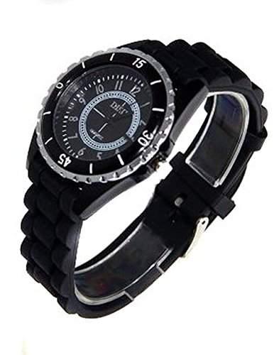 Herren Analog Armbanduhr Uhr DISU Sportswatch Schwarz Quarz