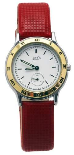Designer Damen Armbanduhr in edlem Rot-Gold Design - Klassischer Stil fuer Sie