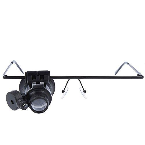 Oramics Luppenbrille fuer Uhrmacher 20 x Vergroesserung verstellbarer LED Licht