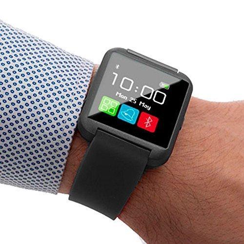 Smartwatch BT110 Intelligente Armbanduhr mit Audio in Schwarz