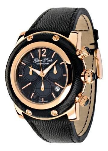 Glam Rock Unisex-Armbanduhr Analog Quarz Leder 0962069