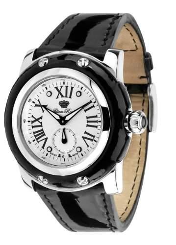 Glam Rock Unisex Quartz-Uhr mit weissem Zifferblatt Analog-Anzeige und Lederband 0962099