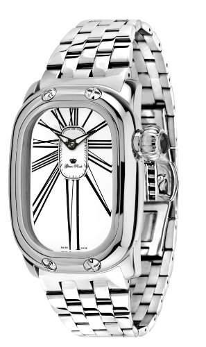 Glam Rock Unisex Quartz-Uhr mit weissem Zifferblatt Analog-Anzeige und 0962179 Armband Edelstahl