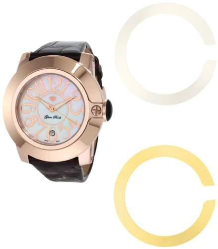 Glam Rock Damen Armbanduhr Analog Quarz Lederband 0962249
