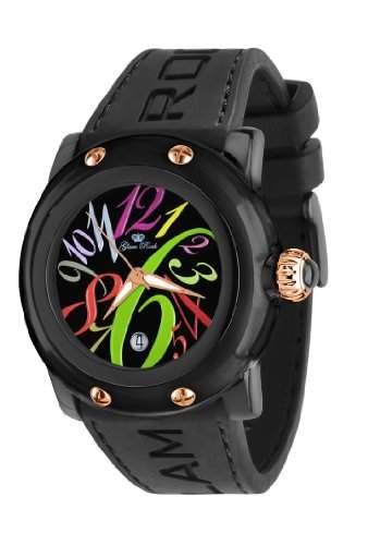 Glam Rock Unisex-Armbanduhr Analog Silikon Schwarz 0962389