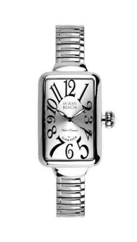 Glam Rock WomenArt Deco Collection Herren-Armbanduhr 17251562 Analog-Anzeige und Silber-Edelstahl-Armband 0963002