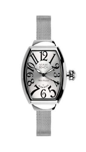 WomenGlam Rock Damen Armbanduhr Art Deco Collection Analog Edelstahl silber 0963052