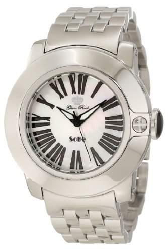 Glam Rock 0962819 Unisex Quartz-Uhr mit weissem Zifferblatt Analog-Anzeige und Silber-Edelstahl-Armband GR31012