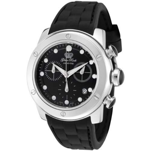 Glam Rock 0962669 Unisex Quarzuhr mit schwarzem Zifferblatt Analog-Anzeige und Schwarz-Silikon-Buegel GR50129