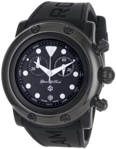 Glam Rock Damen GR61111 Miami Beach Chronograph Black Dial Schwarz Silikon Uhr