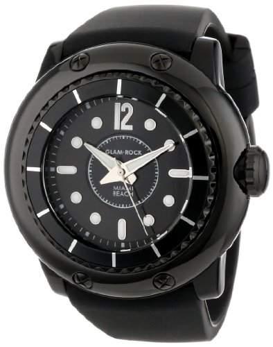 Glam Rock Ladies Black Composite Watch