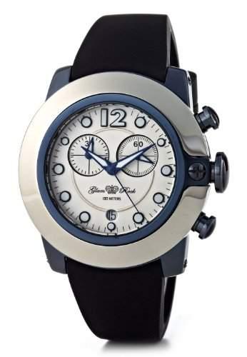 Glam Rock-SB3001-SoBe Damen-Armbanduhr-Quarz Chronograph-Weisses Ziffernblatt-Armband Silikon weiss