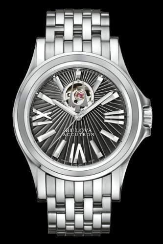 Bulova Accutron Mens Kirkwood Black Dial Automatic Bracelet Watch- 63A103