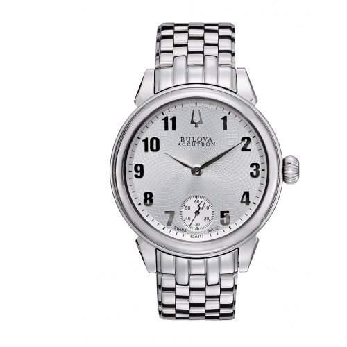 Accutron Herren-Armbanduhr Analog edelstahl Silber 63A117
