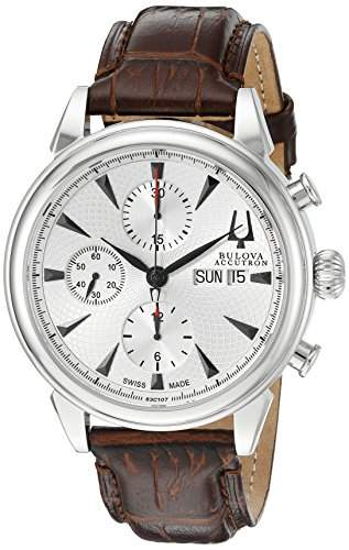 Accutron Herren-Armbanduhr Automatik Silber 63C107