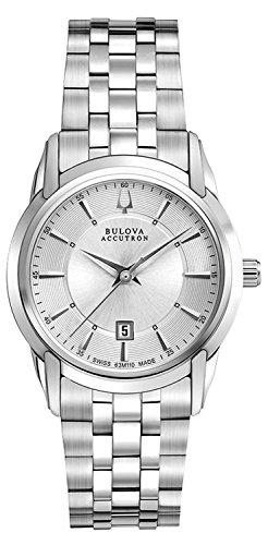 Accutron Damen Armbanduhr Armband Edelstahl Gehaeuse Schweizer Quarz Zifferblatt Silber Analog 63M110