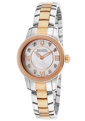 Accutron Damen-Armbanduhr Analog edelstahl Silber 65P106
