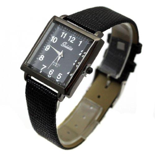 Monte Lovis Herren Armbanduhr Rechteckiges Gehaeuse Modell Goldilis Herrenuhr Dornschliesse