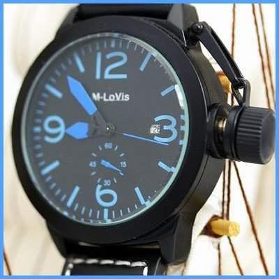 Original Monte Lovis Militaer Automatik Ambanduhr Herren Uhr Blau