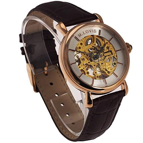 Monte Lovis Herren Skelett Automatik Armbanduhr