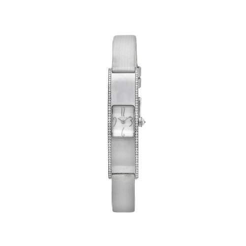 Milus Eridana Damen 44mm Silber Satin Armband Edelstahl Gehaeuse Uhr ERI013
