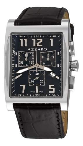 Azzaro Herren AZ125012BB009 Chronograph Black Dial und Armbanduhr