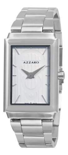 Azzaro Herren AZ206112AM000 Legand Rechteckige White Dial Armbanduhr