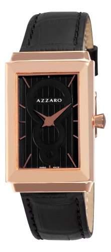 Azzaro Herren AZ206152BB000 Legand Rechteckige Rose PVD Black Dial Uhr