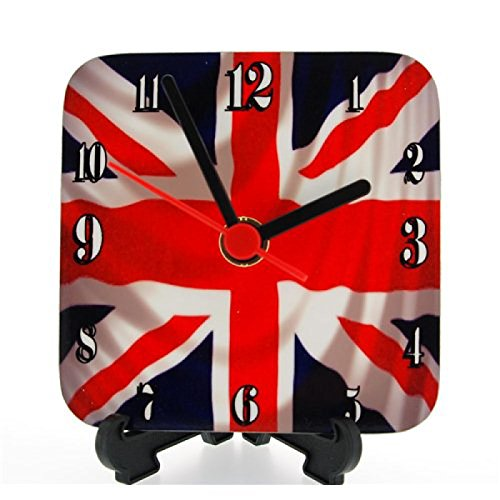 England quadratische Union Jack Quartzuhr