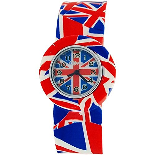 Kids Boys Girls analoge Federarmbanduhr Oh So British Union Jack Sportuhr