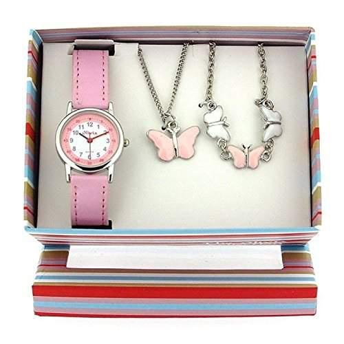The Olivia Collection- Armbanduhr, Anhaenger und Armband mit Schmetterlingen Geschenkset KS002