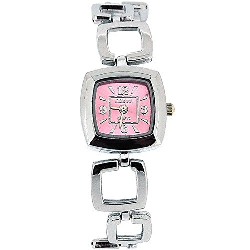 The Olivia Collection Damen Armbanduhr mit rosa quadratischen Zifferblatt COS20