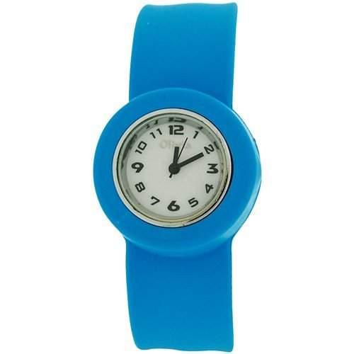 Blaue Slap Kinderuhr mit Armband aus Silikon